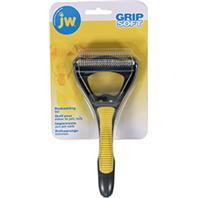 JW Pet - Grip Soft Deshedding Tool - Gray/Yellow - Medium
