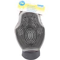 JW Pet - Grooming Glove For Dogs - Gray/Yellow - Medium