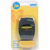 JW Pet - Grip Soft 2-In-1 Fine And Flea Combs - Gray/Yellow - Medium