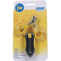 JW Pet - 3-On-1 Nail Care Kit And Carrying Case - Gray/Yellow
