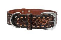 Angel Pet Supplies - Tucson Elite Collar - 2-Tone Brown - 22 X 1.5 Inch
