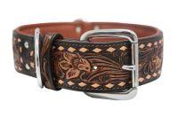 Angel Pet Supplies - Tucson Elite Collar - 2-Tone Brown - 26 X 2 Inch