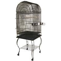 A&E Cage Company - Economy Dome Top Bird Cage - platinum - 20 x 20 x 58 Inch