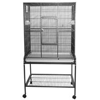 A&E Cage Company - Flight Bird Cage with Stand - Black - 32 x 21 x 63 Inch