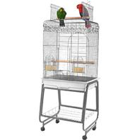 A&E Cage Company - Open Flat Top Cage With Removable Stand - Black - 22 x 18 x 61 Inch