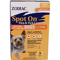 Farnam Pet - Zodiac Spot On Flea & Tick Control - 7-15 Lbs/4 Count