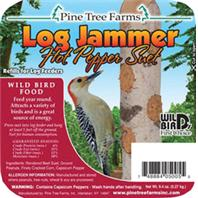 Pine Tree Farms - Log Jammers Wild Bird Food - Hot Pepper - 9.4 oz/3 Pack