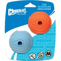 Chuckit - Whistle Ball - Blue - Medium - 2.5 Inch - 2 Pack