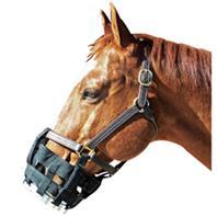Best Friend Equine - Cribbing Muzzle Cob - Black