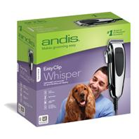 Andis - Easy Clip Whisper Clipper Kit For Pets - SILVER 12 PC