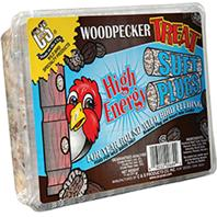 C AND S Products - Woodpecker Treat Suet Plug - 12 oz