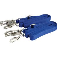 Gatsby Leather - Adjustable Bylon Crossties With Panic Snapp - Royal Blue - 5-9 Foot