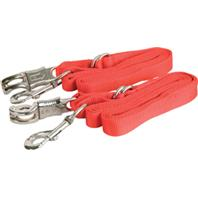 Gatsby Leather - Adjustable Nylon Crossties With Panic Strap - Red - 5-9 Foot