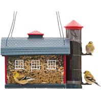 Heritage Farms - Red Barn Combo Feeder - Red - 7 Lb Capacity