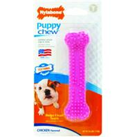 Nylabone - Puppy Chew Dental For Teething Puppies - Pink/Chicken - Petite
