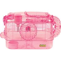 Super Pet - CritterTrail One Level Habitat - Pink - 20x11.5x11 Inch