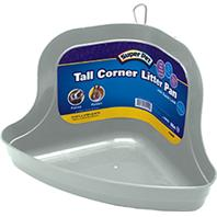 Super Pet - Tall Corner Litter Pan with Quick Lock - Assorted