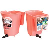 TDL Agritech - Single Treat Reversible Bucket Feeder - Peach - 6 Quart