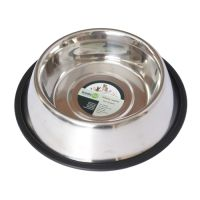 Iconic Pet - Stainless Steel Non-Skid Pet Bowl for Dog or Cat - 64 oz