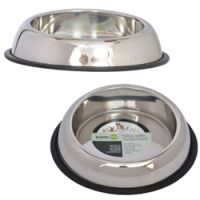 Iconic Pet - Heavy Weight Non-Skid Easy Feed High Back Pet Bowl for Dog or Cat - 8 oz
