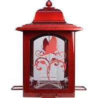 Woodstream Wildbird - Lantern Bird Feeder - Red - 3 Lb Capacity