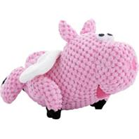Quaker Pet Group - Godog Checkers Flying Pig - Pink - Small