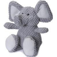 Quaker Pet Group - Godog Checkers Elephant - Gray - Small