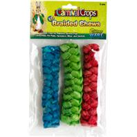 Ware Mfg - Braided Chews For Small Animals - Multicolored - Large/3 Piece