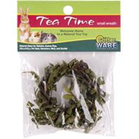 Ware Mfg - Tea Time Wreath Natural Chew For Small Animals - Natural