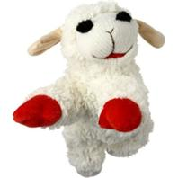 Multipet International - Mini Lamb Chop Dog Toy - Cream - 6 Inch