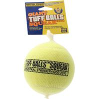 Petsport - Giant Tuff Ball Squeak - Yellow - 4 Inch