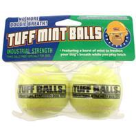 Petsport - Tuff Mint Balls - Yellow - 2.5 Inch/2 Pack