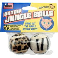 Petsport - Catnip Jungle Balls - Assorted - 2 Pack