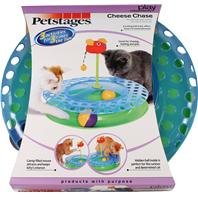 Petstages - Cheese Chase With Catnip Mouse Cat Toy - Blue
