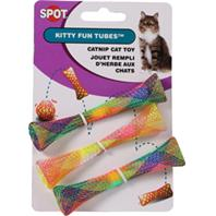 Ethical Cat - Kitty Fun Tubes Catnip Cat Toy - Assorted - 3 Pack