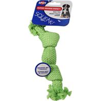 Ethical Dog - Super Squeak Rope Dog Toy - Assorted - 9 Inch