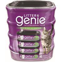 Litter Genie - Cat Litter Disposal System Standard Refill - 4 Pack