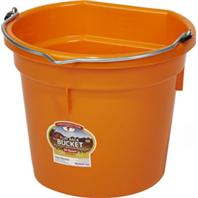 Miller Mfg - Little Giant Flat Back Bucket - Orange - 20 Quart
