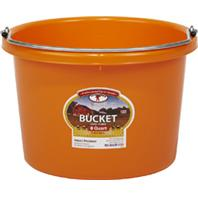 Miller Mfg - Little Giant Plastic Bucket - Orange - 8 Quart