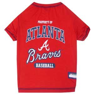 Doggienation-MLB - Atlanta Braves Dog Tee Shirt - Medium