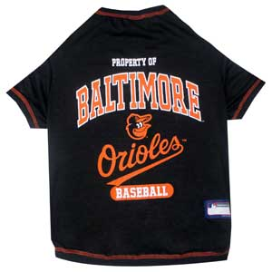 Doggienation-MLB - Baltimore Orioles Dog Tee Shirt - Xtra Small