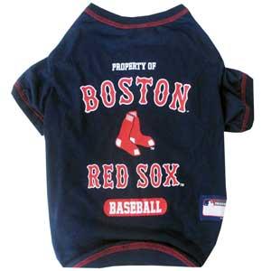 Doggienation-MLB - Boston Red Sox Dog Tee Shirt - Xtra Small