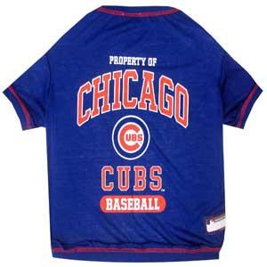 Doggienation-MLB - Chicago Cubs Dog Tee Shirt - Small