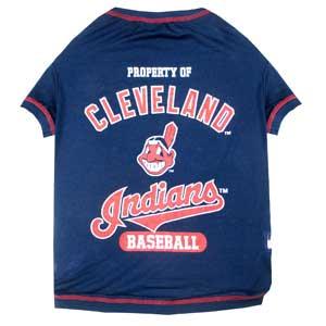 Doggienation-MLB - Cleveland Indians Dog Tee Shirt - Medium