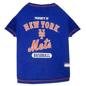 Doggienation-MLB - New York Mets Dog Tee Shirt - Medium
