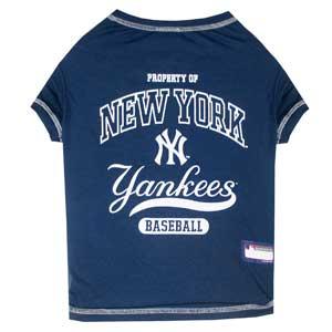 Doggienation-MLB - New York Yankees Dog Tee Shirt - Small
