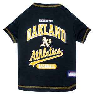 Doggienation-MLB - Oakland Athletics Dog Tee Shirt - Medium