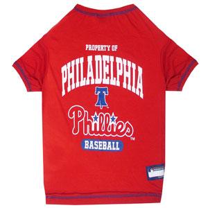 Doggienation-MLB - Philadelphia Phillies Dog Tee Shirt - Medium