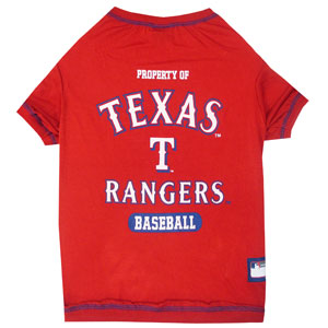 Doggienation-MLB - Texas Rangers Dog Tee Shirt - Small