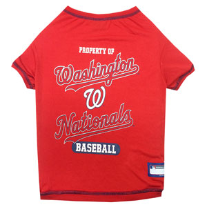 Doggienation-MLB - Washington Nationals Dog Tee Shirt - Small